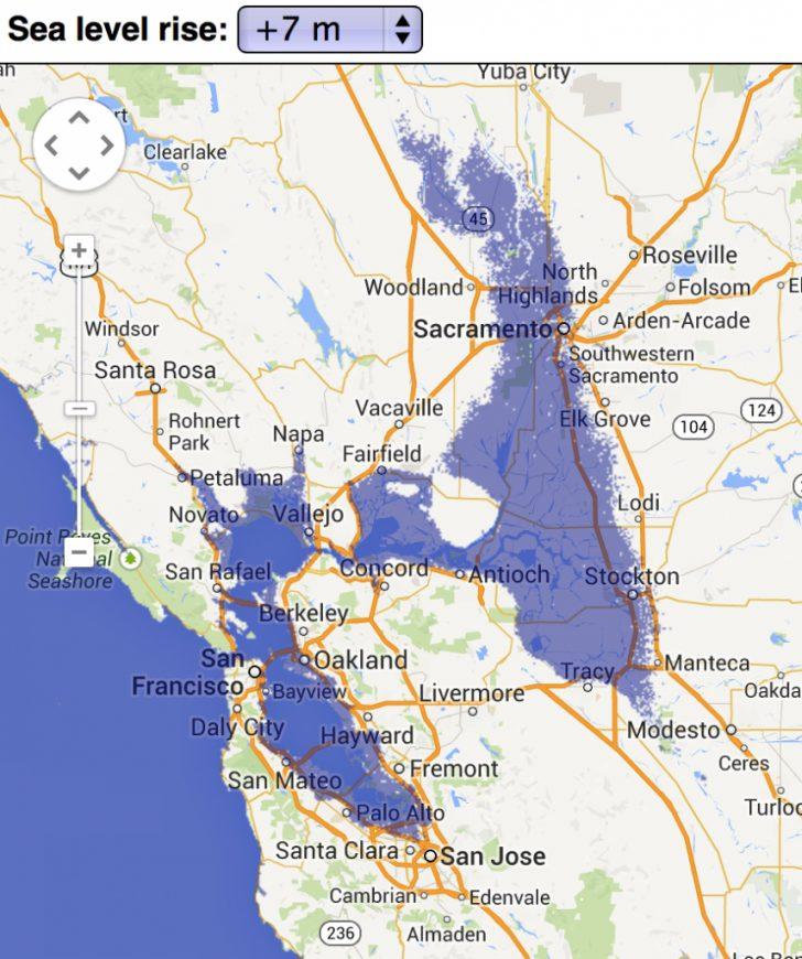California Sea Level Rise Map