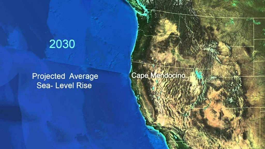 Sea-Level Rise For The Coasts Of California, Oregon, And Washington - California Sea Level Rise Map