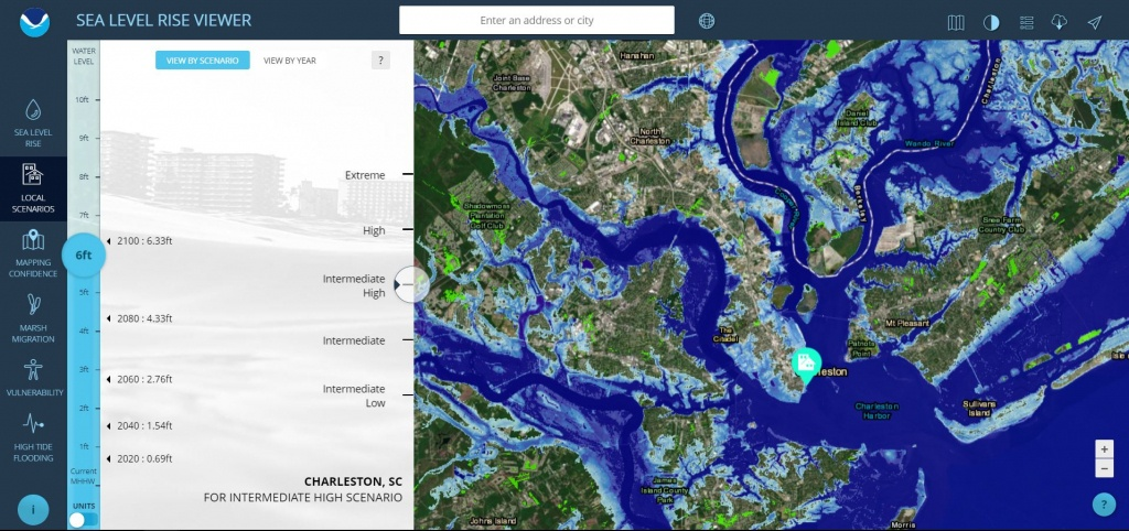Sea Level Rise Viewer - Map Of Florida After Sea Level Rise
