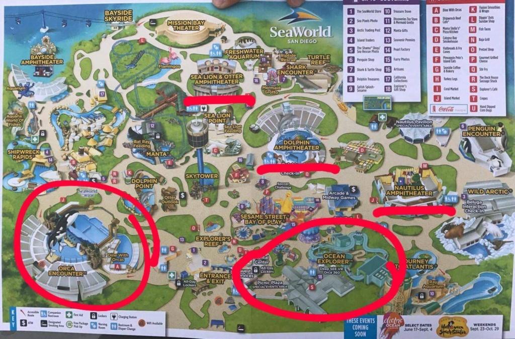 Sea World Map San Antonio #528665 - Seaworld San Antonio Printable Map