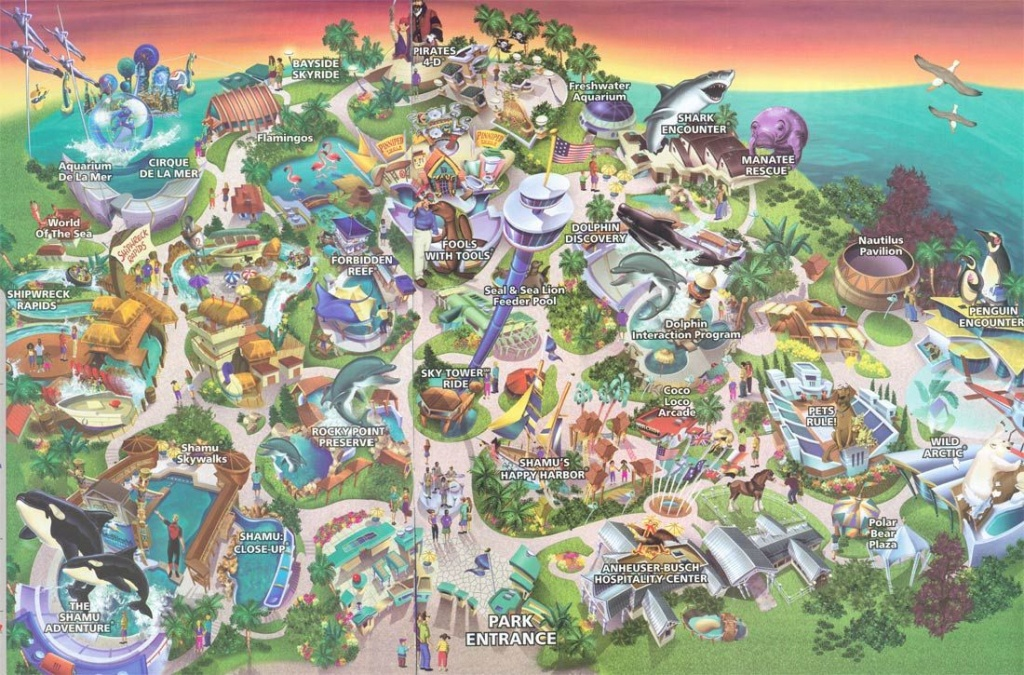 Sea World San Diego Map 2004 | ~~~~Road Trip ~~~~ | San Diego Map - Printable Map Of Seaworld San Antonio