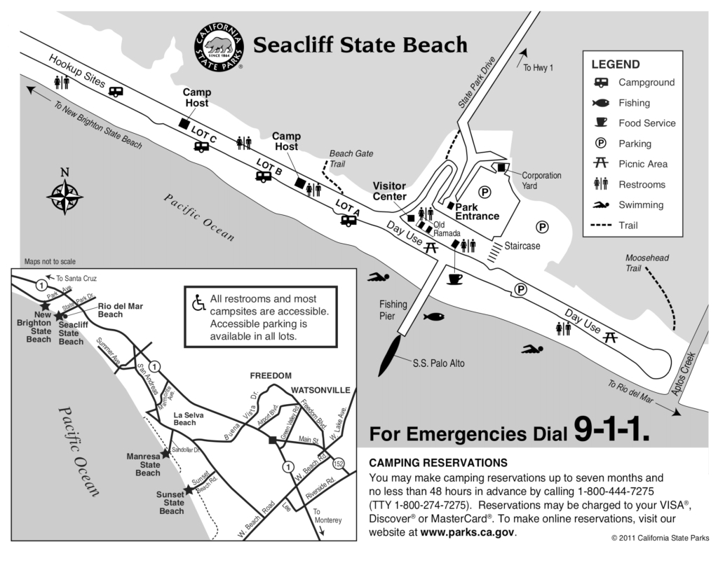 Seacliff State Beach - Campsite Photos, Camp Info & Reservations - California Rv Camping Map
