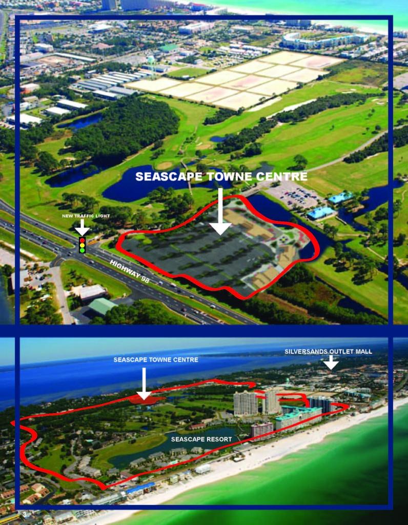 Seascape Towne Centre - Seascape Resort Destin Florida Map