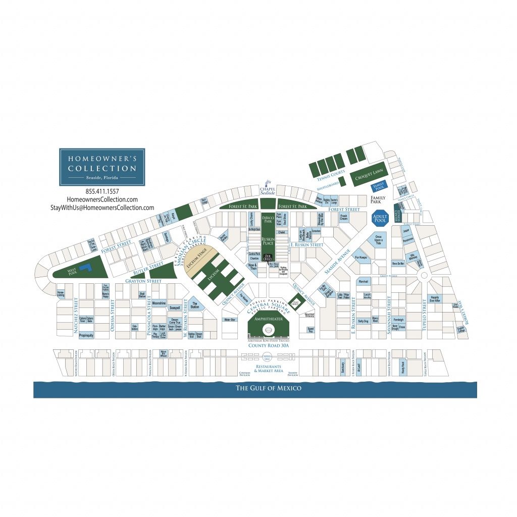Seaside Florida Cottage Map - Seaside Beach Florida Map