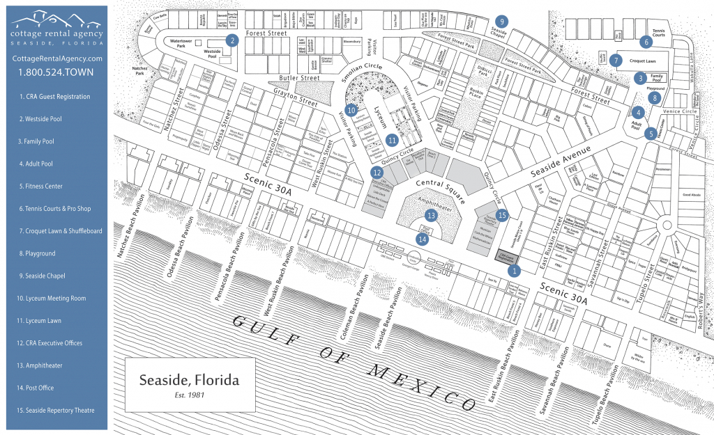 Seaside Florida Map - Click Properties On Map To View Details | Maps - Seaside Florida Town Map