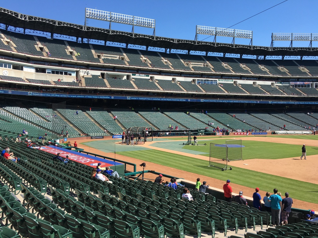 Seat Selector — Rangerfans - Texas Rangers Ballpark Seating Map