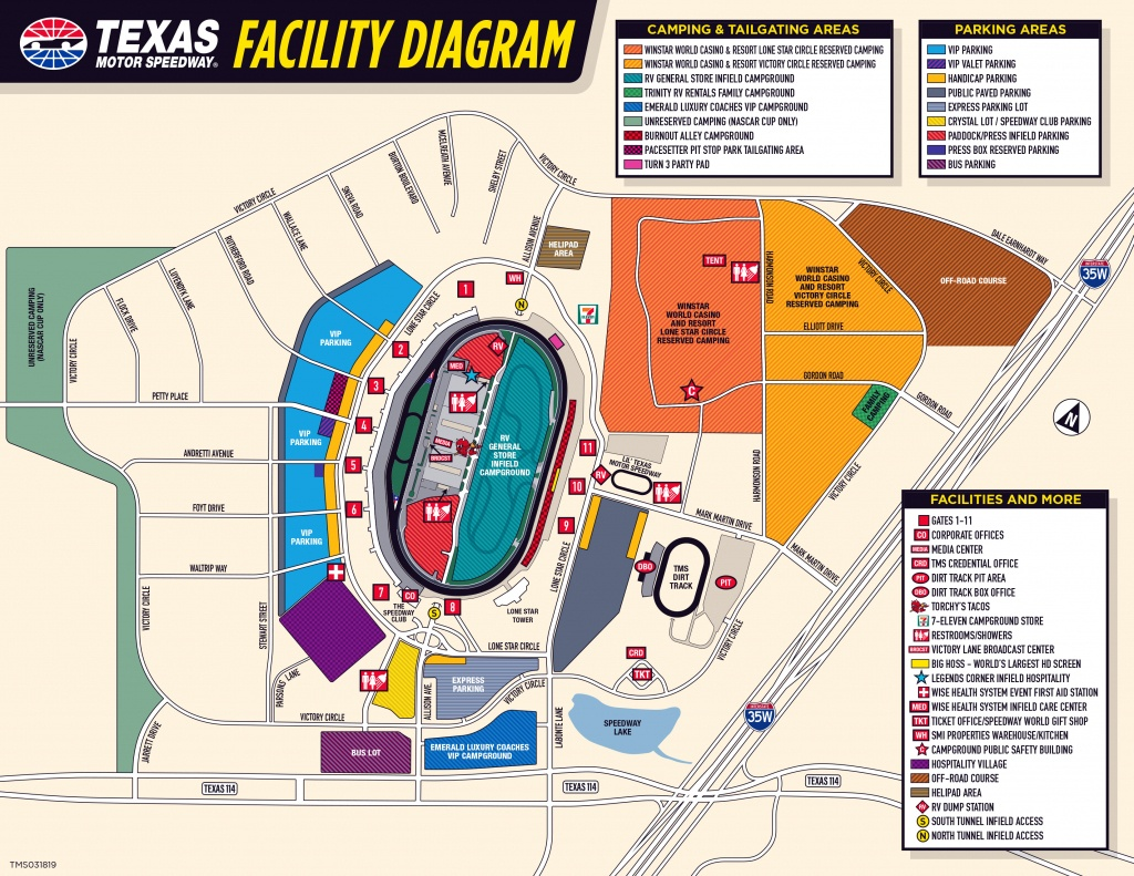 Seating Chart And Facility Maps - Casinos In Texas Map