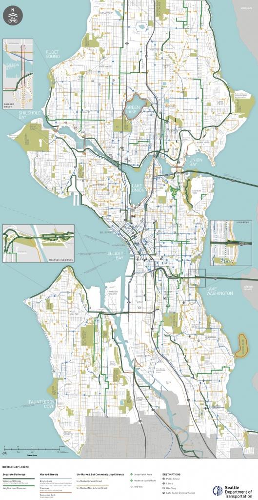Seattle Area Bike Maps | Seattle Bike Blog - Printable Area Maps