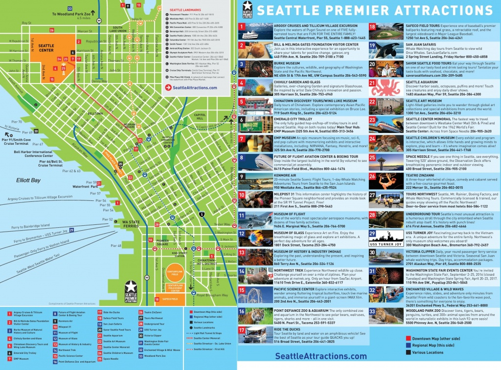 Seattle Maps | Washington, U.s. | Maps Of Seattle - Printable Map Of Seattle