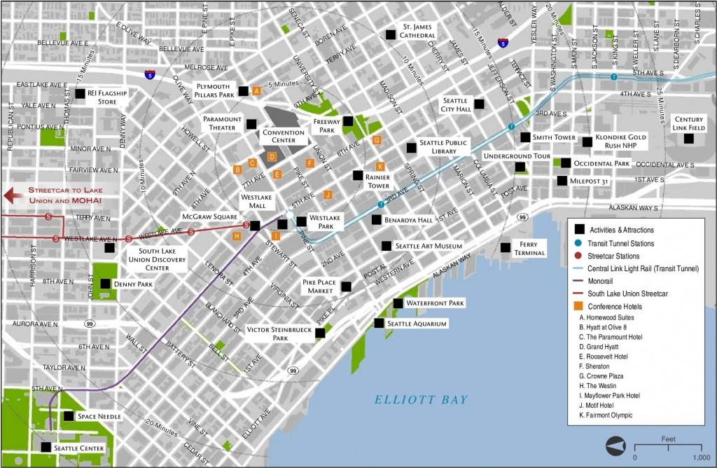 Seattle Maps | Washington, U.s. | Maps Of Seattle - Seattle Tourist Map Printable