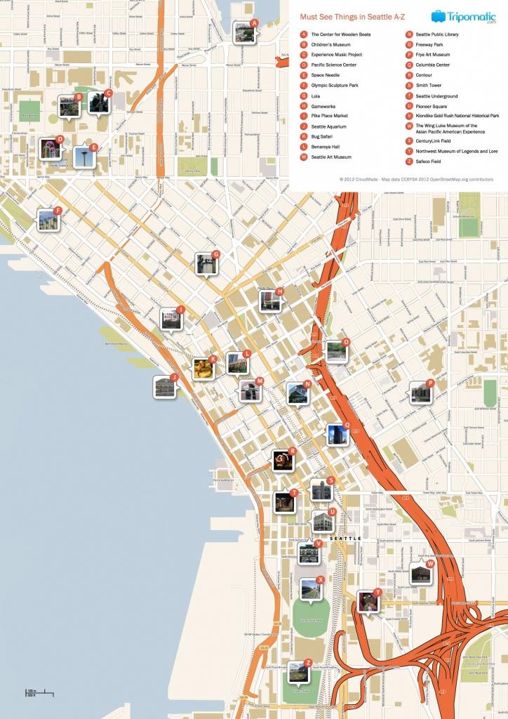 Seattle Printable Tourist Map | Free Tourist Maps ✈ | Seattle - Printable Map Of Downtown Seattle