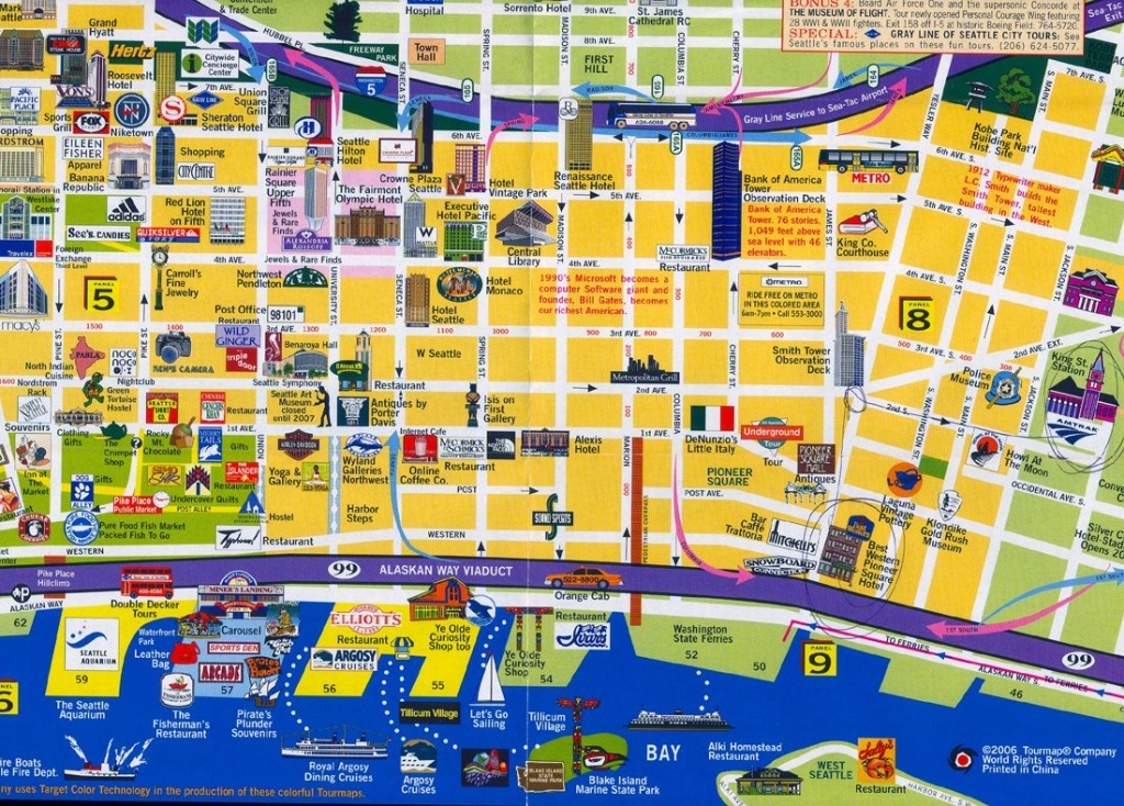 Seattle | What To See In Seattle. | Travel | Seattle Map, Seattle - Printable Map Of Downtown Seattle