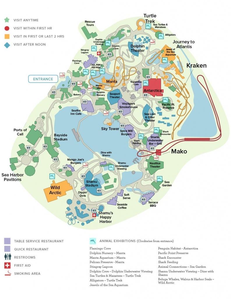 Seaworld® Orlando General Map | Disney Trip ✈ June 2019 - Seaworld Map Orlando Florida