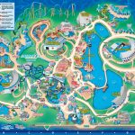 Seaworld Orlando Theme Park Map   Orlando Fl • Mappery | Aquariums   Florida Theme Parks On A Map