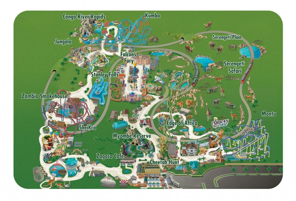 Seaworld Parks & Entertainment   Know Before You Go   Busch Gardens - Florida Busch Gardens Map