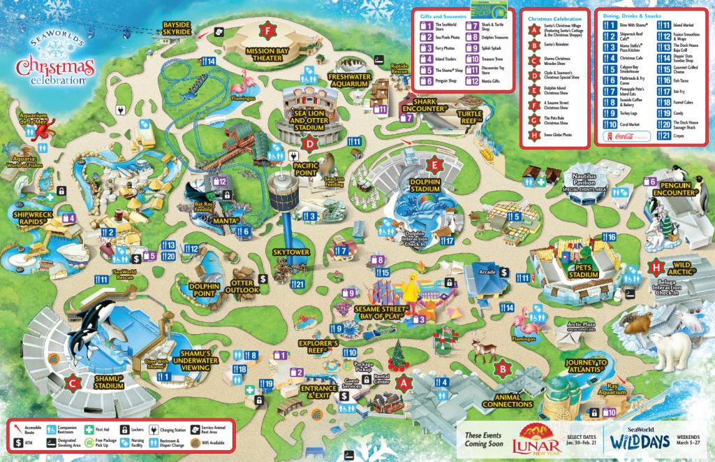 Seaworld San Diego Guide   Beaux Endroits - Amérique Du Nord - Seaworld San Diego Printable Map
