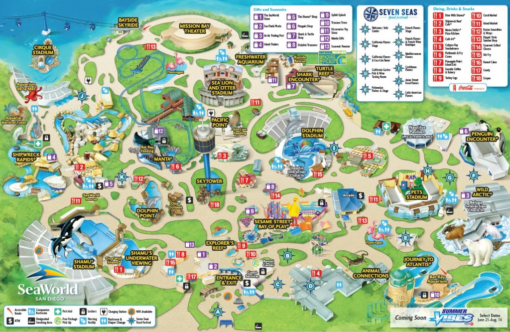 Seaworld San Diego Map - Map Of Seaworld San Diego (California - Usa) - Printable Sea World San Diego Map