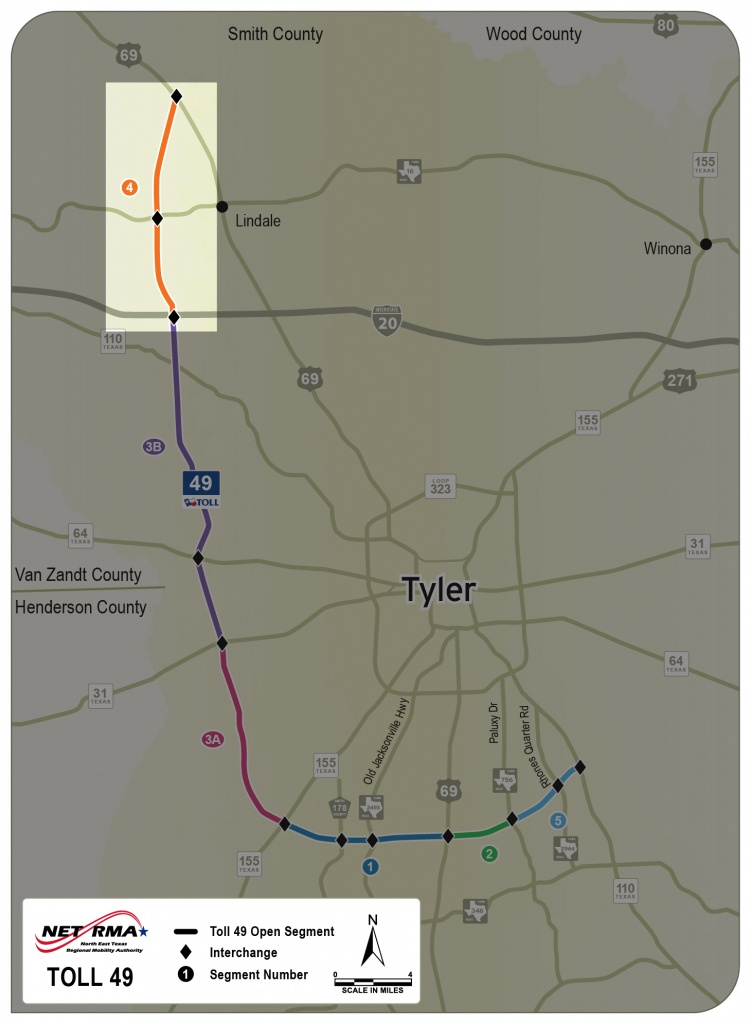 Segment 4 (Lindale Bypass Route) – Netrma - Lindale Texas Map