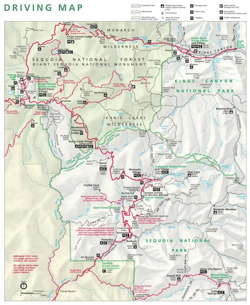 Sequoia Maps   Npmaps - Just Free Maps, Period. - Sequoia Park California Map