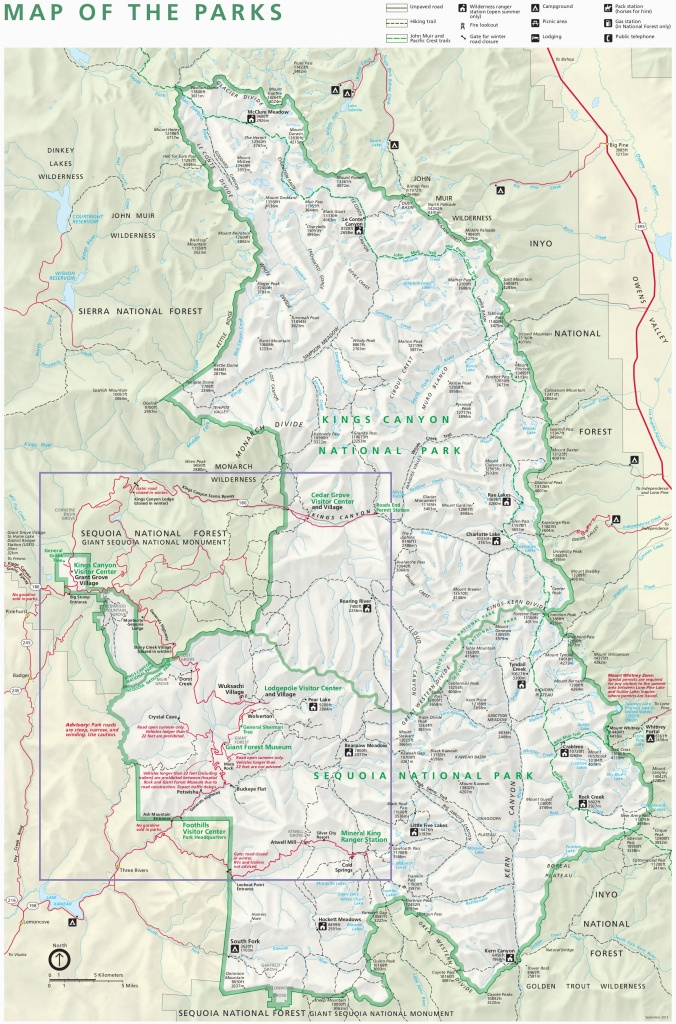 Sequoia National Park Map California Kings Canyon National Park - Sequoia Park California Map