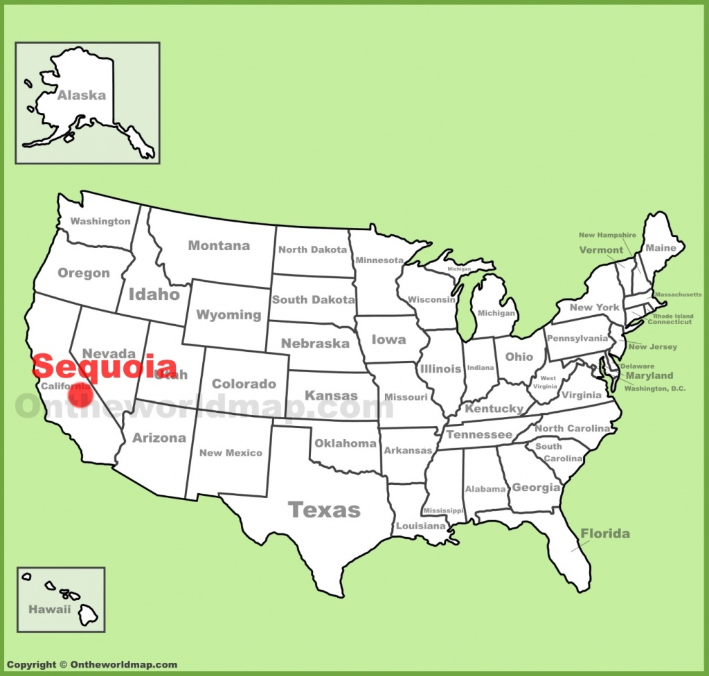 Sequoia National Park Maps | Usa | Maps Of Sequoia National Park - Sequoia Park California Map