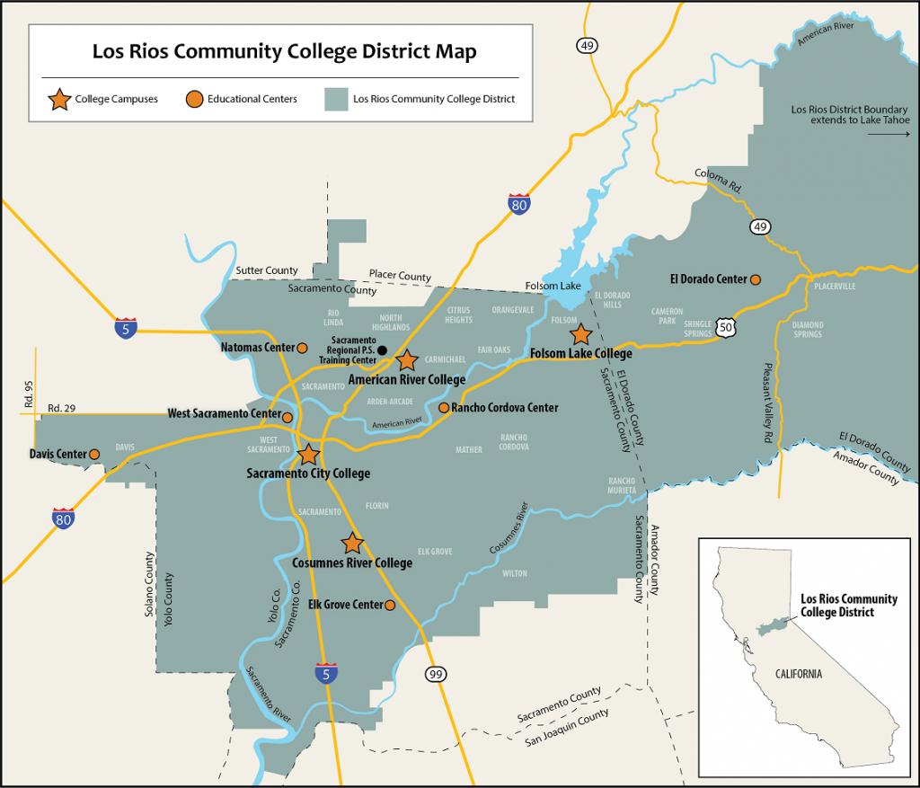Service Area Maps   Los Rios Community College District - California Community Colleges Map