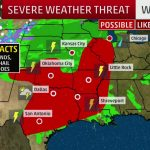 Severe Storms, Flooding In The Forecast Today For Texas, Southern   Texas Weather Map