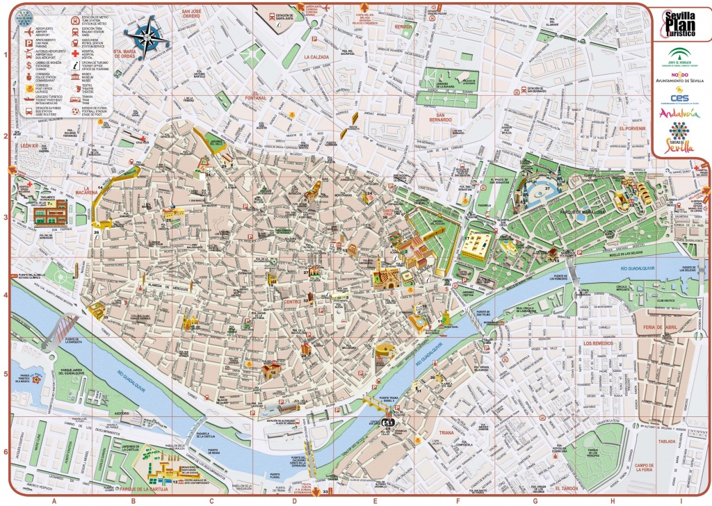 Seville Maps | Spain | Maps Of Seville (Sevilla) - Printable Tourist Map Of Seville