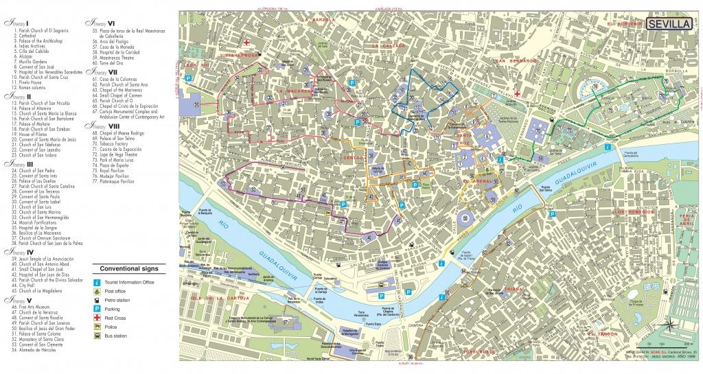Seville Tourist Attractions Map - Seville Tourist Map Printable