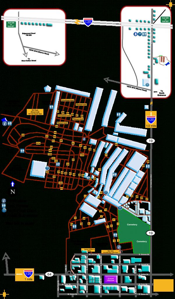 Sfmc   Guide Map - Canton Texas Flea Market Map