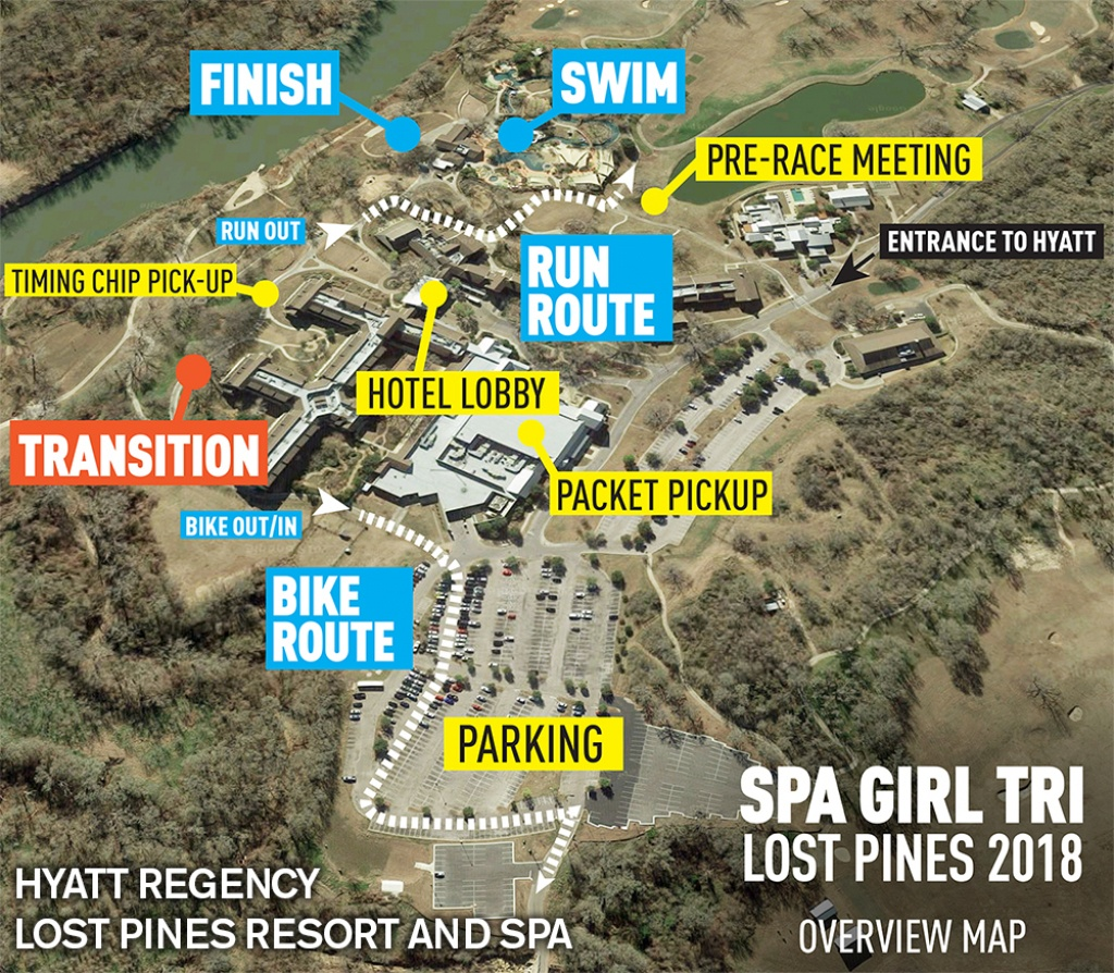 Sgt Lost Pines - Spa Girl Tri | Spa Girl Tri - Lost Pines Texas Map