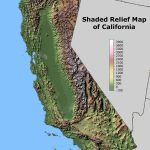 Shaded Relief Map Of California. | Maps I Like | California Map   California Geography Map