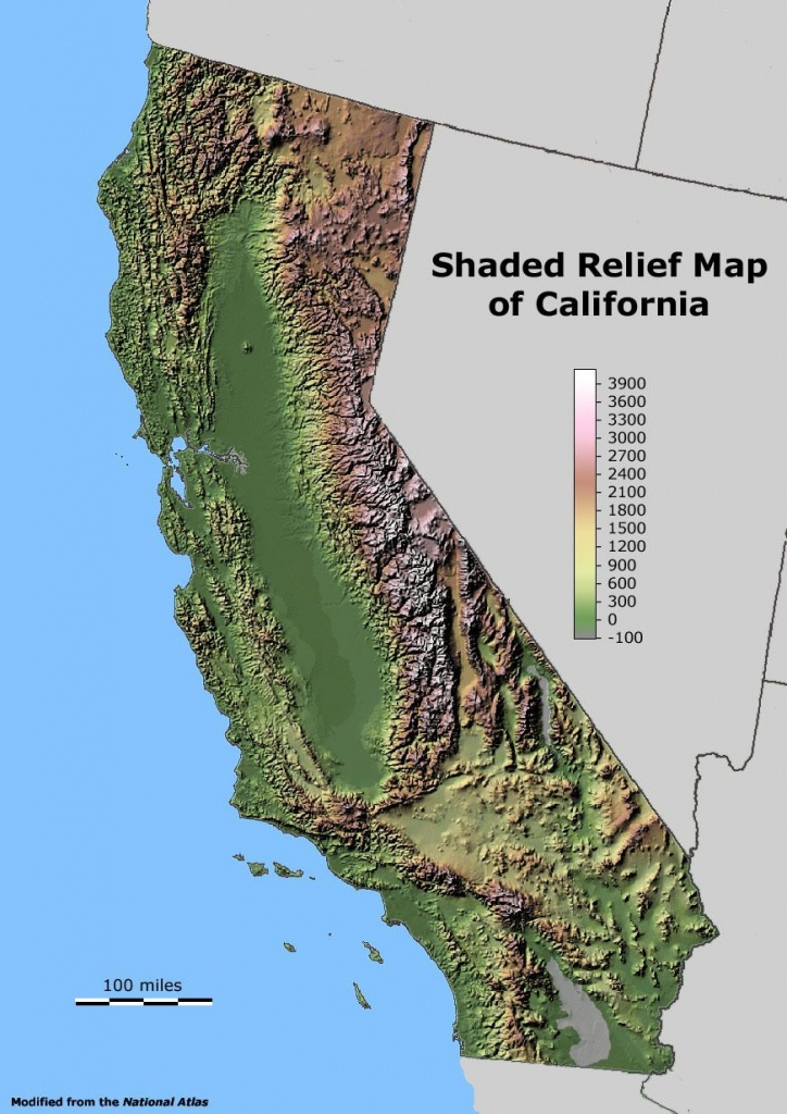 California Relief Map