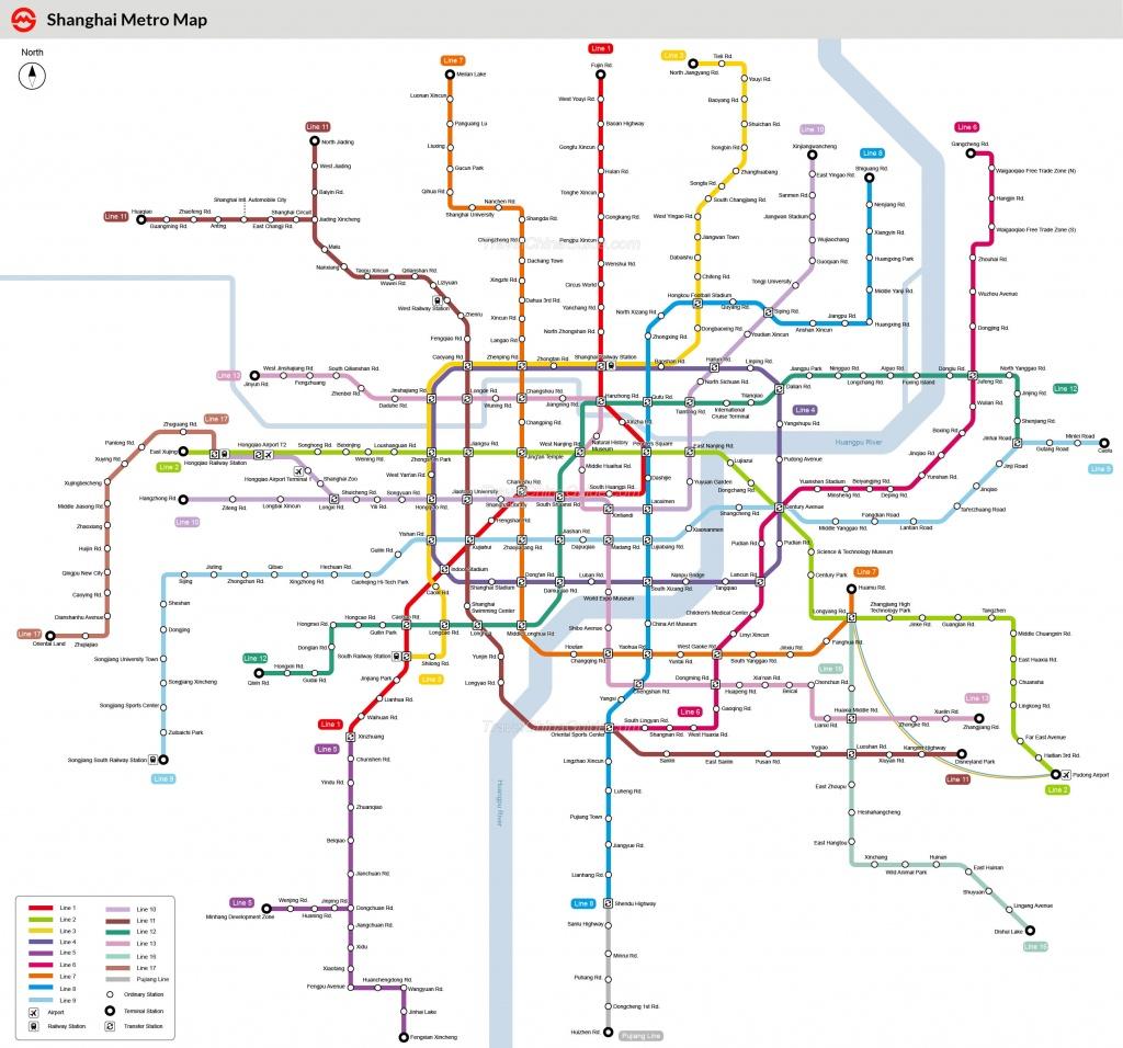 Shanghai Metro Maps, Printable Maps Of Subway, Pdf Download - Printable Metro Map