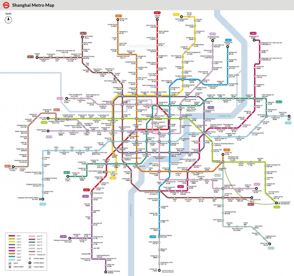 Shanghai Metro Maps, Printable Maps Of Subway, Pdf Download - Printable Underground Map