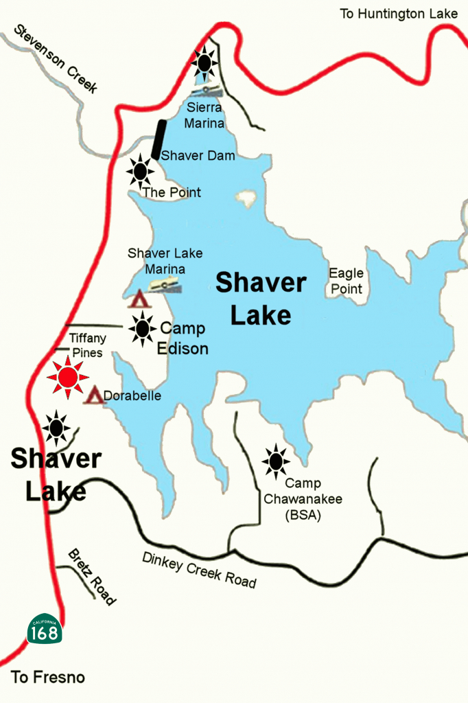 Shaver Lake Map | Dehazelmuis - Shaver Lake California Map