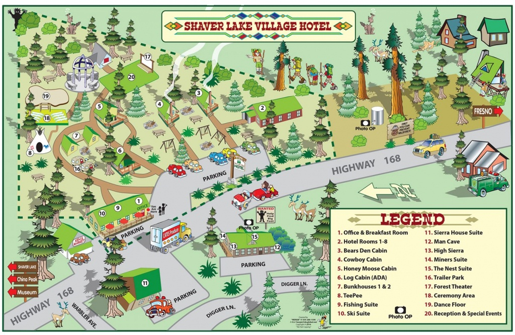 Shaver Lake Village Hotel Property Map - Shaver Lake Village Hotel - Shaver Lake California Map