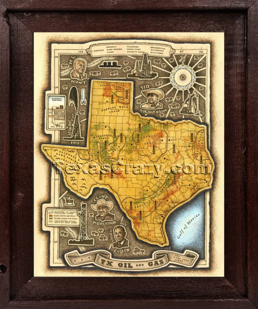 Shop Tx Oil And Gas Shales Map Framed Unique Texas Maps - Framed Texas Map