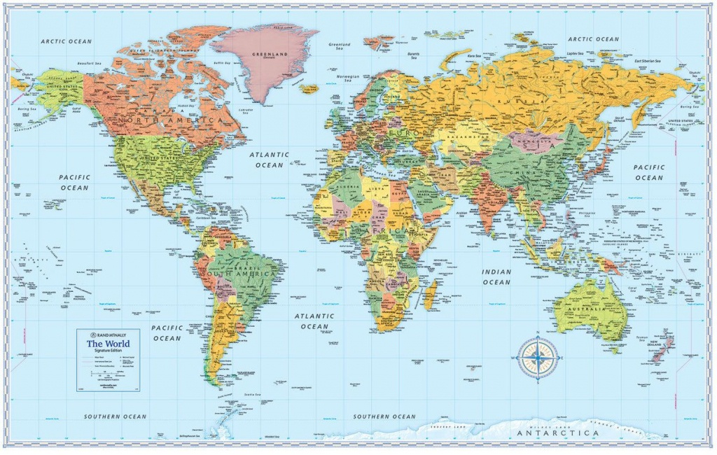 Signature Edition World Wall Maps In 2019 | Moon | World Map Poster - Printable Wall Map