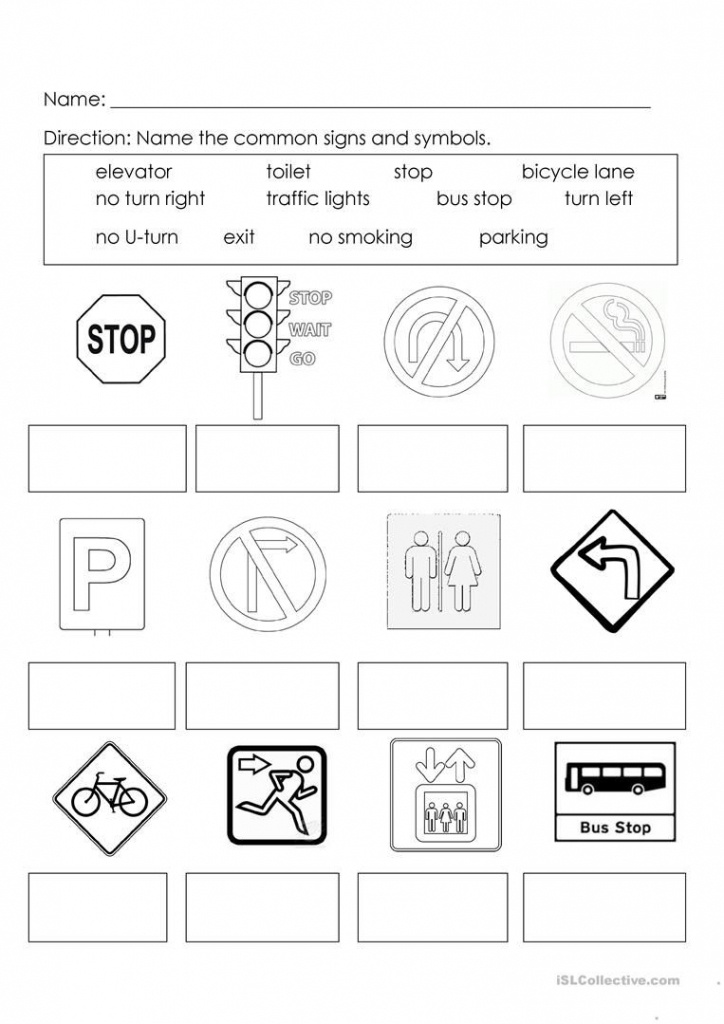 Signs And Symbols | Learning For Kids | Worksheets For Kids - Map Symbols For Kids Printables