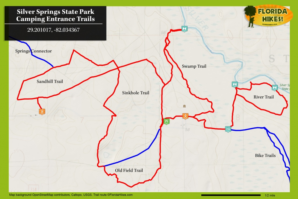 Silver Springs River Trails   Florida Hikes! - Florida State Parks Map