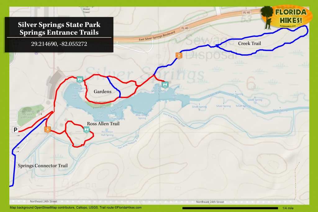 Silver Springs State Park   Florida Hikes! - Florida State Parks Map