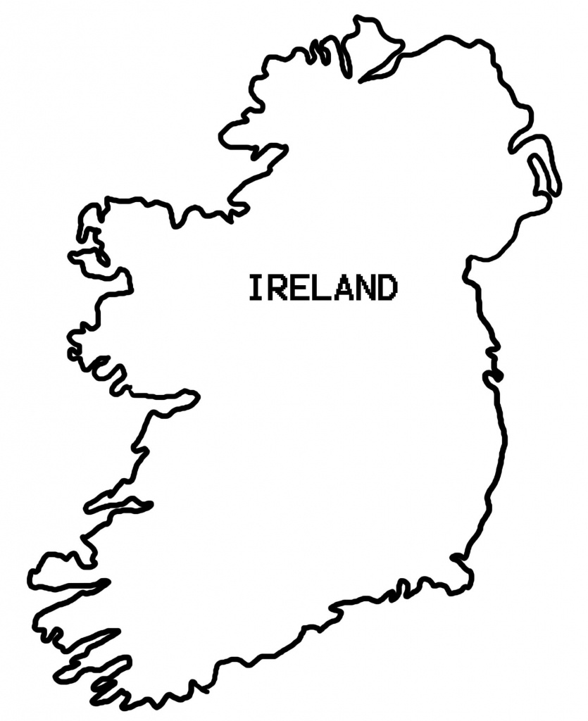 Simple Map Of Ireland - Clipart Best | Countries Crafts And Things - Printable Black And White Map Of Ireland