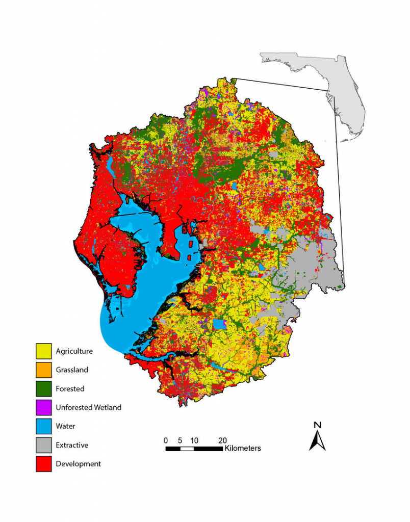 Simplified Florida Land Use/cover Classification System Map For The - Florida Land Use Map
