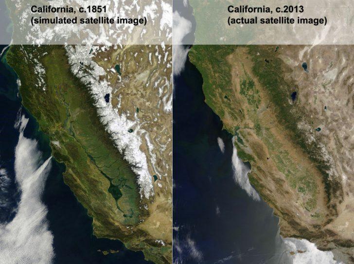 California Map Satellite