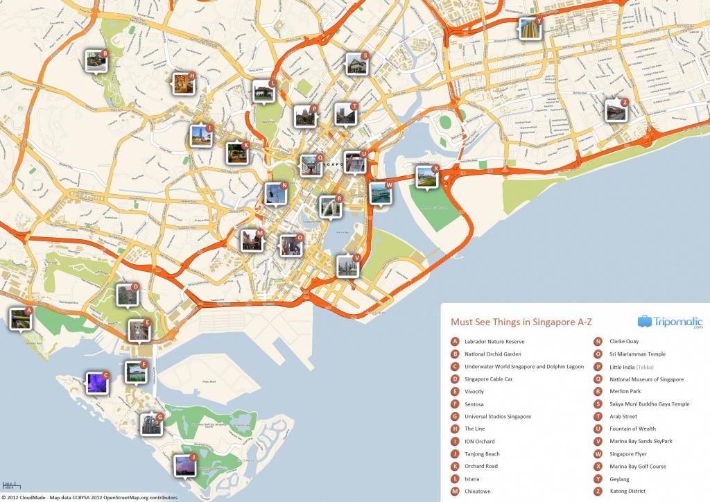Singapore Printable Tourist Map In 2019 | Free Tourist Maps - Singapore City Map Printable