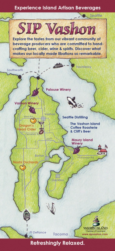 Sip Vashon - Vashon-Maury Island Chamber Of Commerce - Vashon Island Map Printable