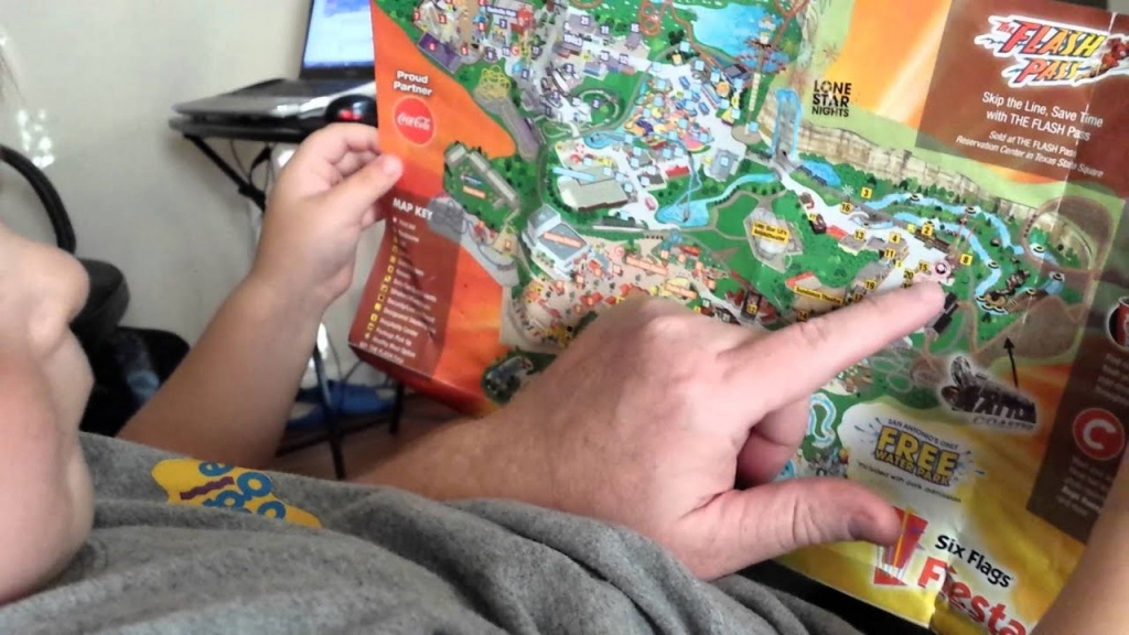 Six Flags Fiesta Texas Map -Cw - Youtube - Fiesta Texas Map