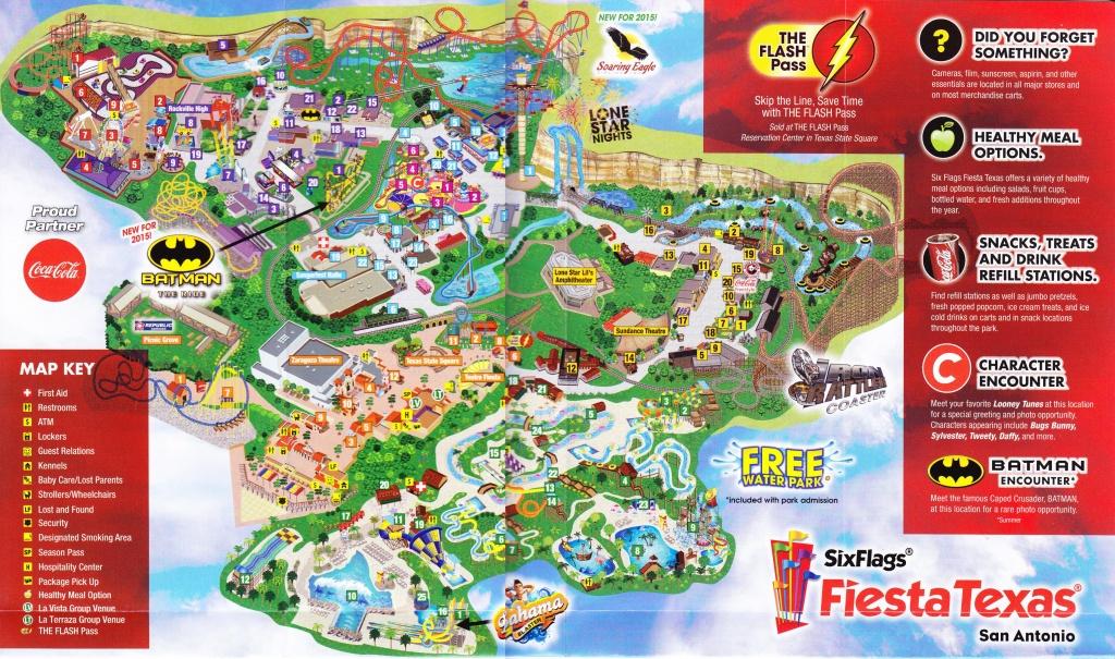Six Flags Fiesta Texas Map - Six Flags San Antonio Map (Texas - Usa) - Fiesta Texas Map