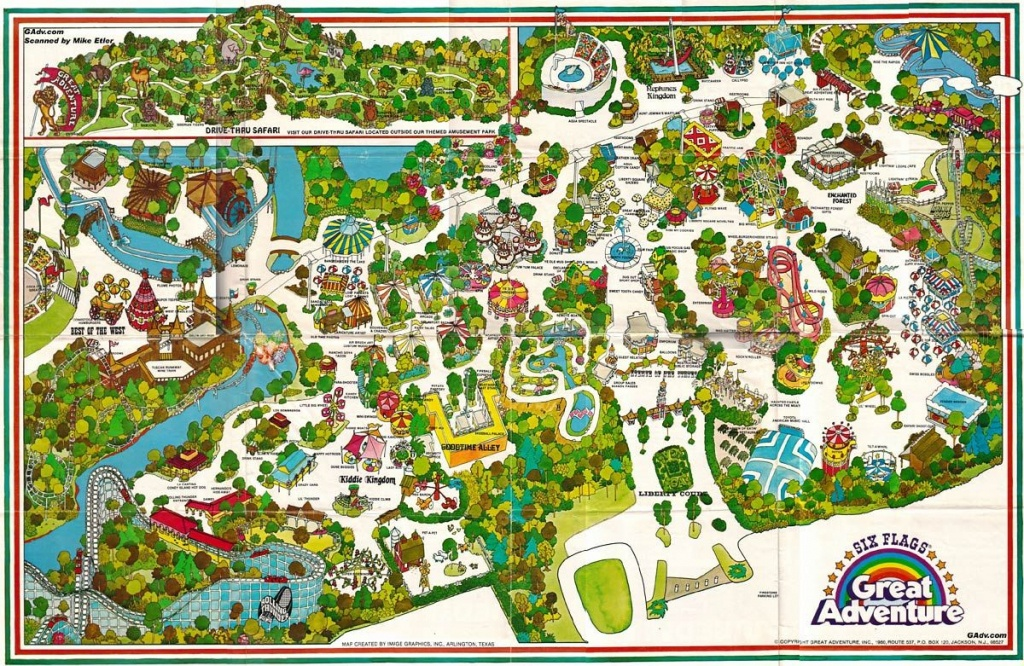 Six Flags Great Adventure In Njhad Lots Of Fun Taking The Kids - Six Flags New England Map Printable
